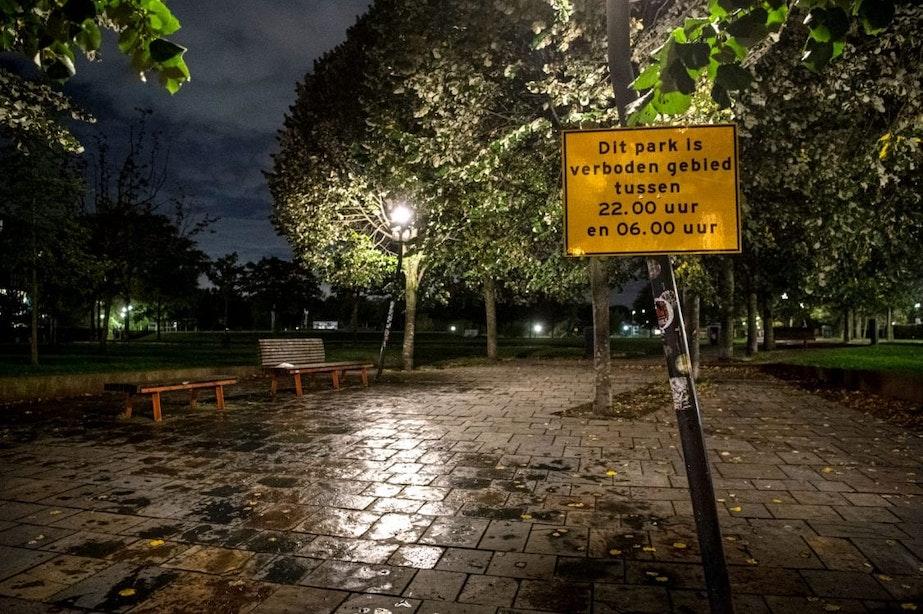 Utrechtse parken gesloten: handjevol mensen na 22.00 uur nog aanwezig