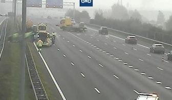 Vijf rijstroken A12 bij Utrecht afgesloten na ongeluk met motorrijder