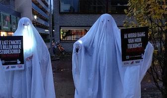 Studenten dwalen maandag als 'schuldenspook' door Utrecht
