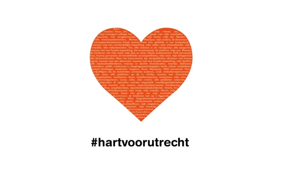 Wie wil jij een hart onder de riem steken? Doe mee met #hartvoorUtrecht