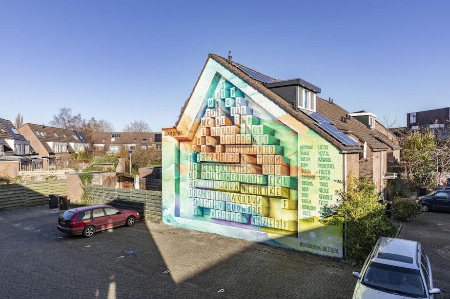 Enorme woordzoeker van JanIsDeMan siert Utrechtse wijk Lunetten