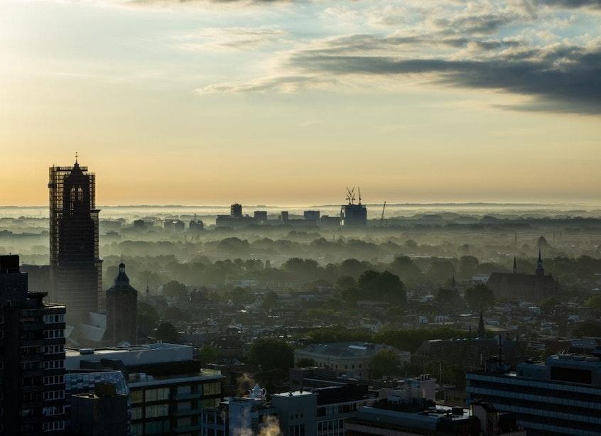 Deze foto's laten Utrecht zien vanaf het hoogste balkon van de stad