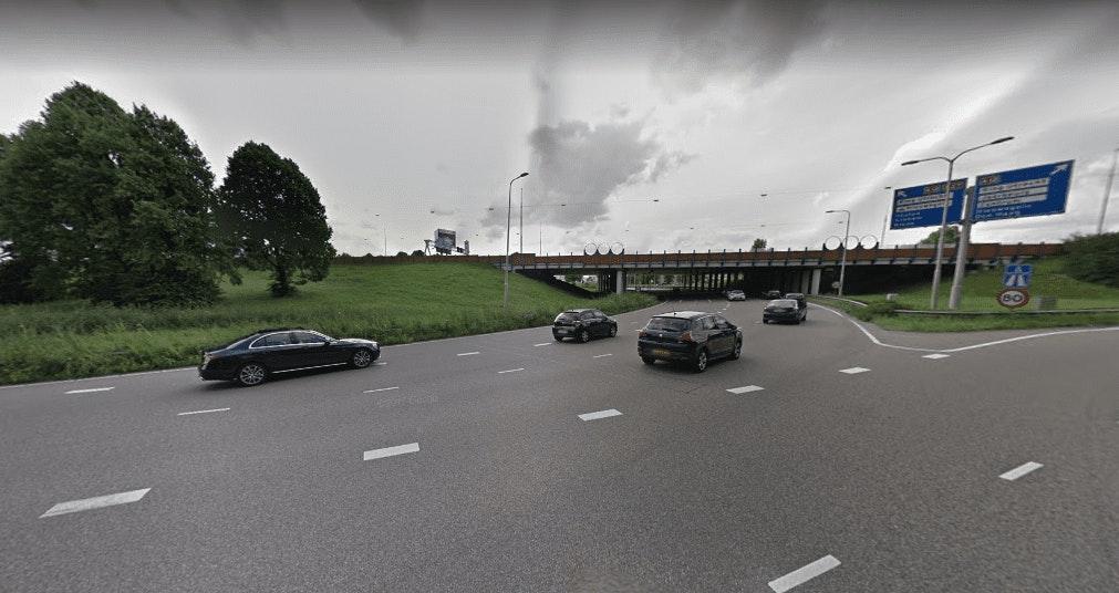 Verkeersplein Laagraven bij Lunetten komend weekend dicht voor werkzaamheden
