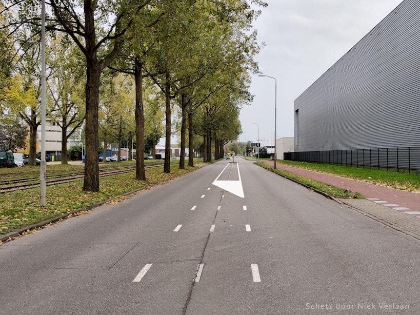 Optische illusies in Lage Weide om snelheid auto's te verminderen
