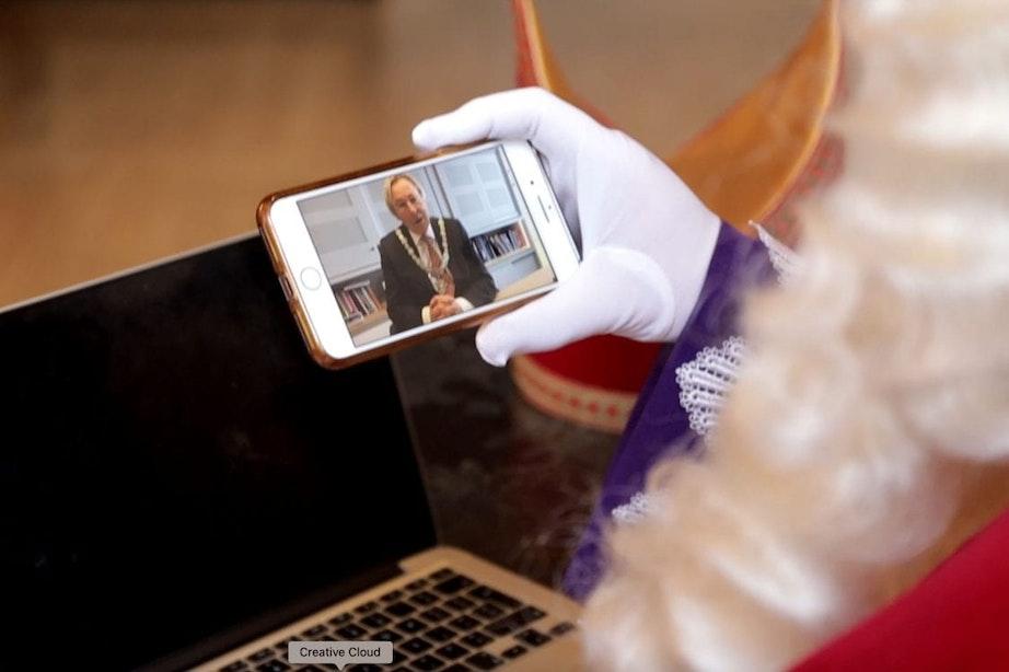Video: Burgemeester heet Sinterklaas via videoverbinding welkom in Utrecht