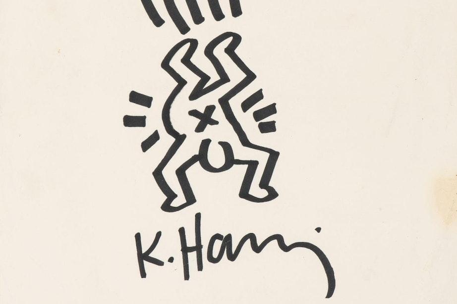 Tekening Keith Haring voor oud-student HKU verkocht voor bijna 9.000 euro