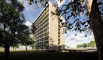 Plan voor 200 studentenwoningen aan de Opaalweg in Utrecht