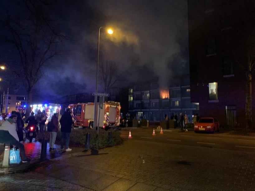 Bewoner gearresteerd na brand in woning Diamantweg