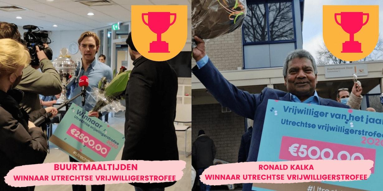 BuurtMaaltijden en Ronald Kalka winnen Utrechtse Vrijwilligerstrofee 2020