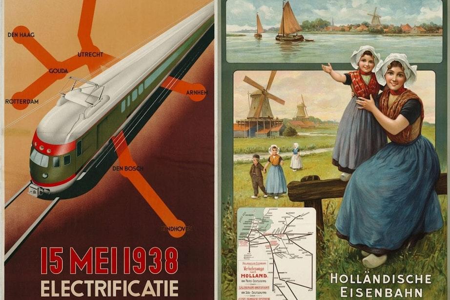 Utrechts Spoorwegmuseum laat in nieuwe tentoonstelling geschiedenis van affiches zien