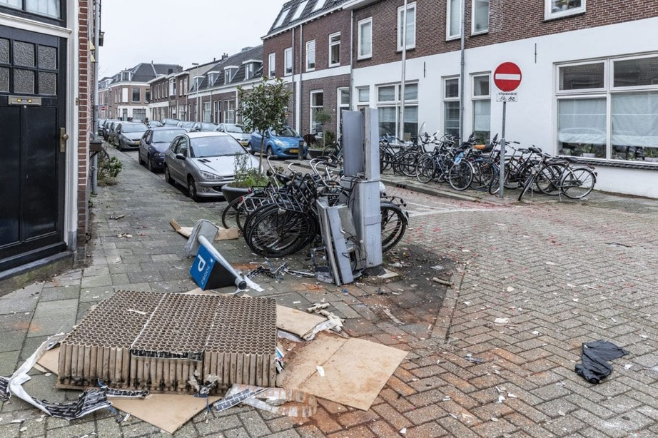 Minder rommel na Oud en Nieuw in Utrecht, maar gevolgen op sommige plekken goed zichtbaar