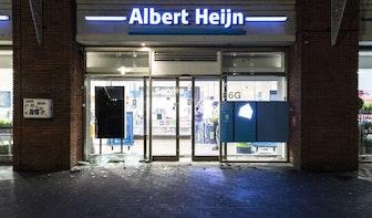 Jongeren gooien op 't Goylaan in Utrecht stenen naar de politie