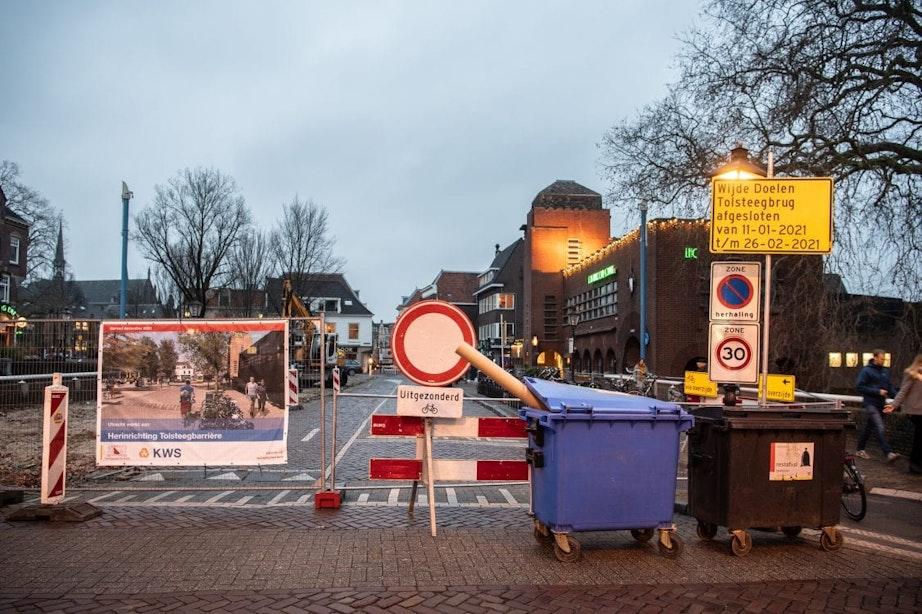 Tolsteegbrug in Utrecht komende weken dicht voor auto- en fietsverkeer