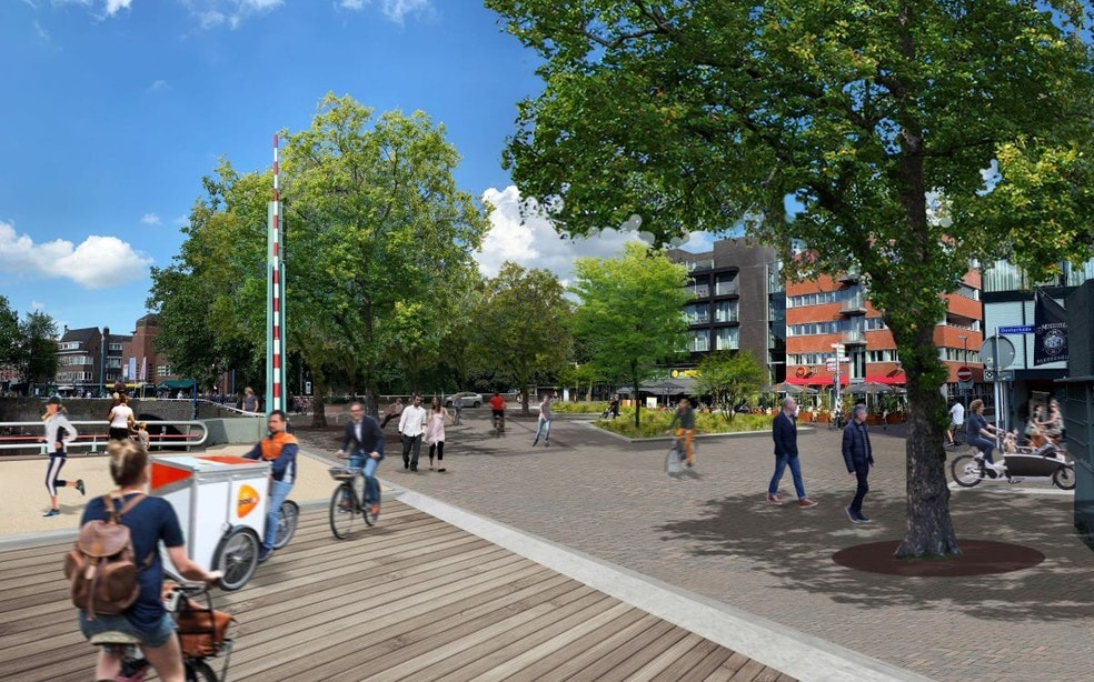 Plannen voor Ledig Erf in Utrecht zijn rond; doorgaand autoverkeer moet plaatsmaken voor stadsplein