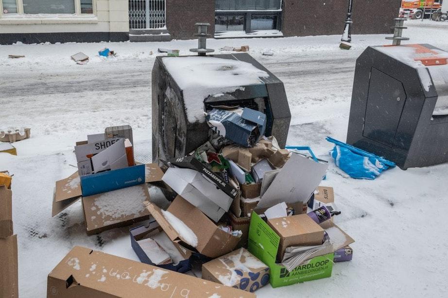 Afvalinzameling in Utrecht gaat door, maar wordt wel aangepast door gladheid