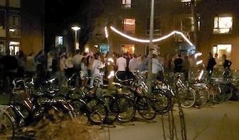 Feestgangers IBB slaan op de vlucht na aankomst politie Utrecht