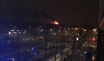 Vijf woningen ontruimd bij grote brand aan de Croeselaan in Utrecht