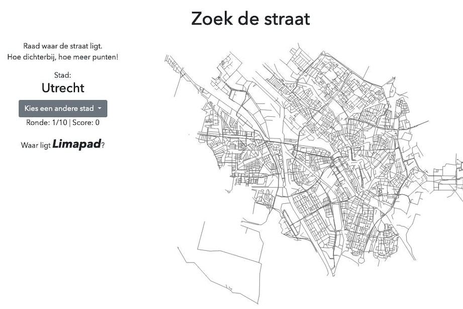 Hoe goed ken jij de plattegrond van Utrecht? Test het via dit nieuwe online spel
