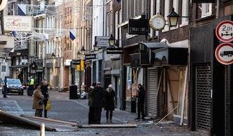 Schade aan winkels en huizen na plofkraak binnenstad Utrecht