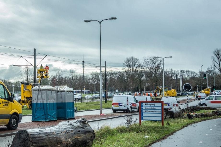 Tramverkeer op Uithoflijn ligt nog steeds stil na ongeval; Herstelwerkzaamheden begonnen