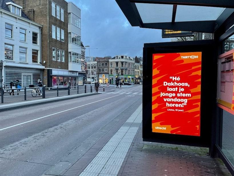 Thirty030 stimuleert jonge Utrechters te gaan stemmen: 'Hé dakhoas, laat je jonge stem vandaag horen'