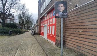 Aan lantaarnpalen vastgemaakte borden van Forum voor Democratie in Utrecht verwijderd door gemeente