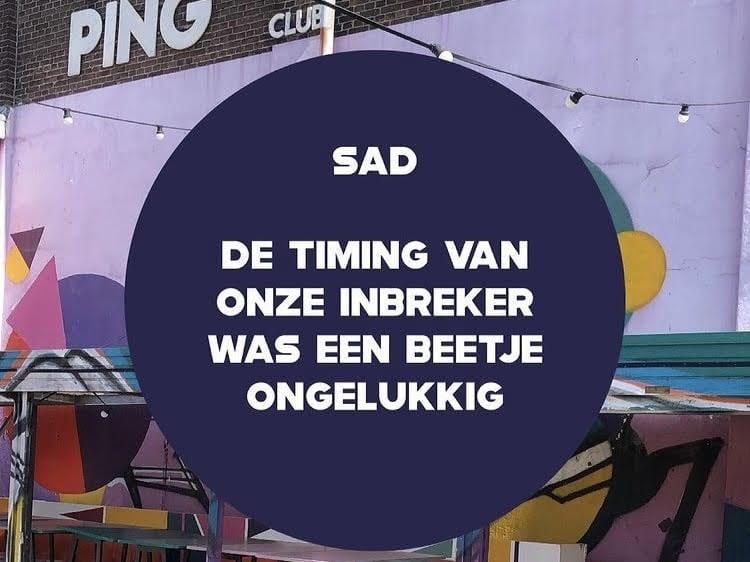 Inbraak bij Utrechtse Ping Pong Club: 'Daar wil je niet mee bezig zijn'