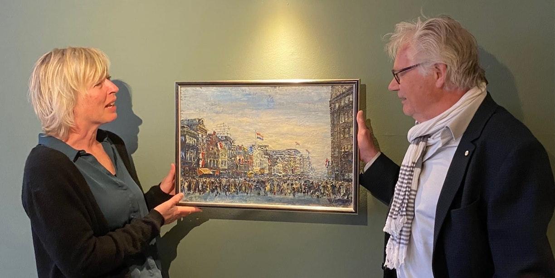 Kunsthandelaar Marcel Gieling schenkt Volksbuurtmuseum schilderij