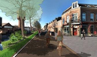 Dit zijn de plannen voor de Jutfaseweg; fietsstraat, 30 km/h en wandelpad langs het water