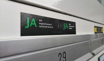 Utrechters gooien per jaar gemiddeld 4,2 kilo minder papier weg vanwege ja-ja-sticker