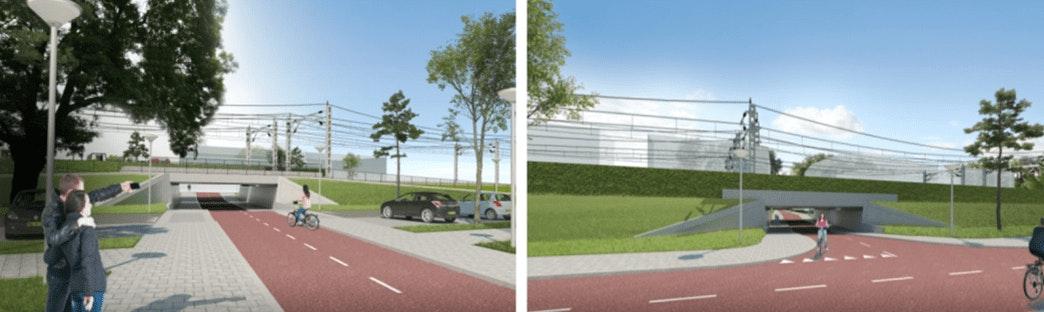Fietstunnel tussen Locomotiefstraat en 2e Daalsedijk komende dagen geplaatst