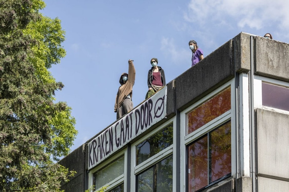 Voormalige studentenwoningen aan Archimedeslaan afgelopen week gekraakt