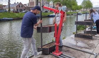 Startup hangt 20 plantenbakken in Vaartsche Rijn om biodiversiteit te verbeteren