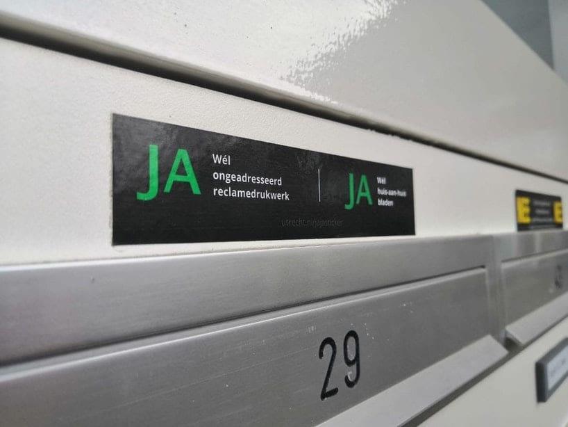 Advies aan Hoge Raad: uitspraak hof over ja-ja-sticker in Utrecht klopt