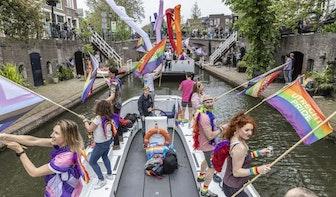 Kleinschalige Utrecht Canal Pride voer door de stad en was minstens net zo indrukwekkend als voorheen