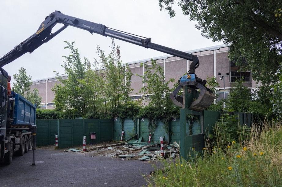 Einde van een tijdperk: tippelzone in Utrecht gesloten, sloop afwerkplek begonnen