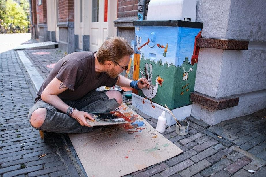 Eerste Utrechtse transformatorkasten beschilderd door lokale kunstenaars