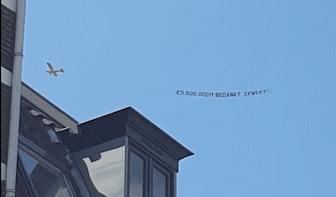 Tientallen Utrechters zien Sywert-vliegtuigje over de stad vliegen