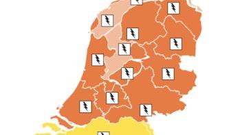 KNMI kondigt code oranje af voor Utrecht