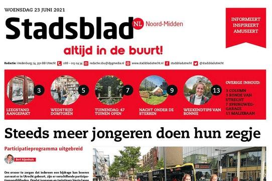 Het Utrechtse Stadsblad houdt op te bestaan