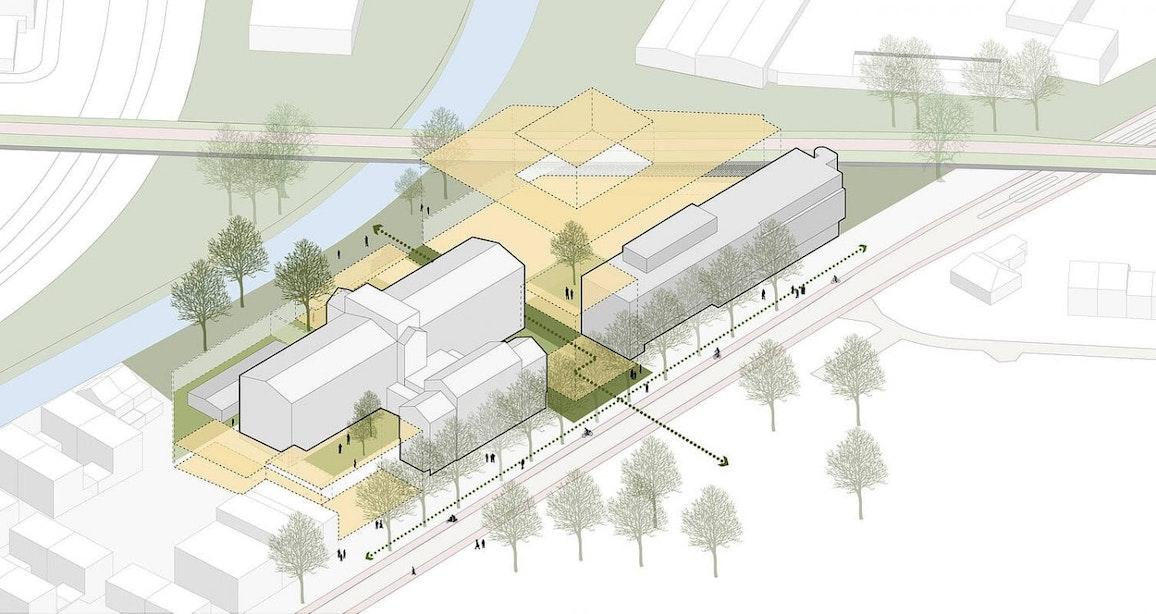 Dit zijn de plannen voor het voormalige Pieter Baan Centrum; wonen, werken, horeca en een park