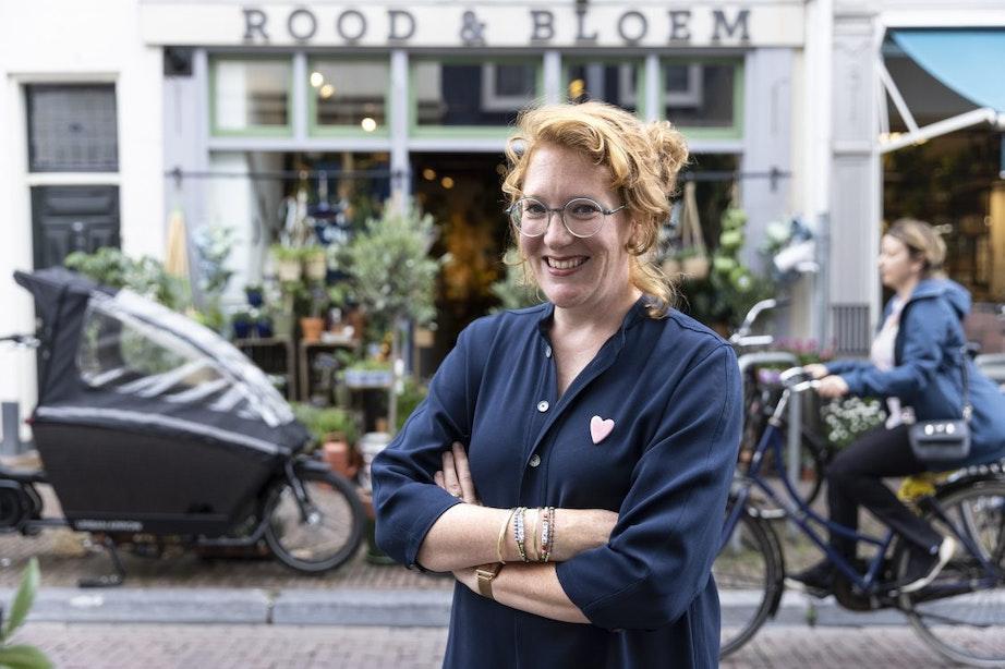Carolien Rutgers gooide het roer om en opende Rood en Bloem aan de Springweg in Utrecht