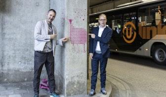 Eerste deel kunstwerk Lichaam en Geest onthuld op busstation in Utrecht