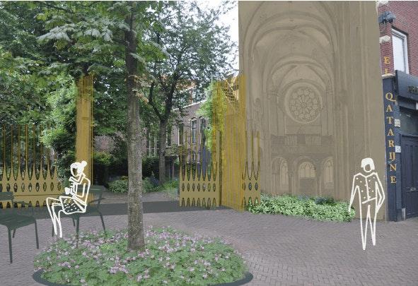 Maria Majorplein in Utrechtse binnenstad wordt op initiatief van vrijwilligers vernieuwd