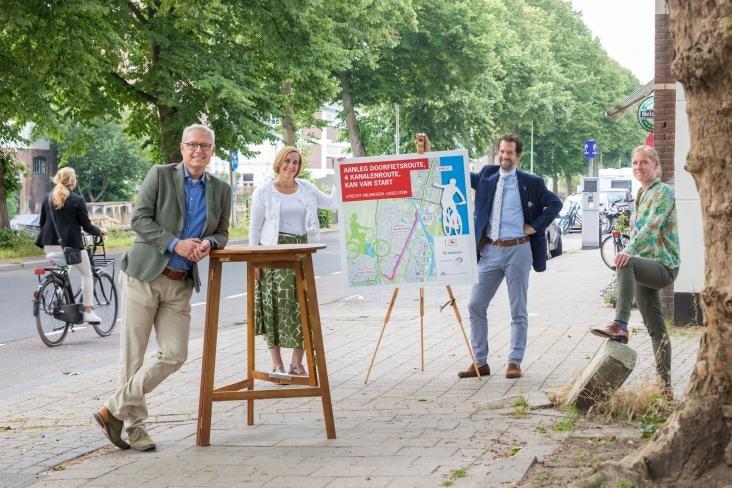 Startschot gegeven voor aanleg doorfietsroute tussen Utrecht, Nieuwegein en IJsselstein