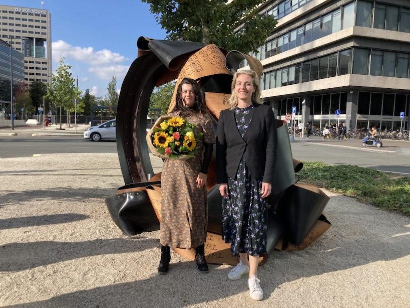 Nieuw kunstwerk 'Script of the City' in Beeldenpark Croeselaan