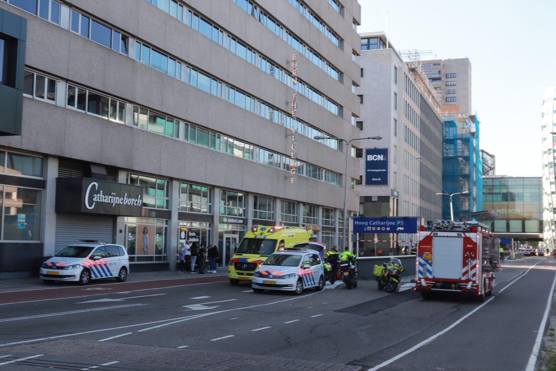 Automobilist zwaargewond bij eenzijdig ongeval in parkeergarage Hoog Catharijne.