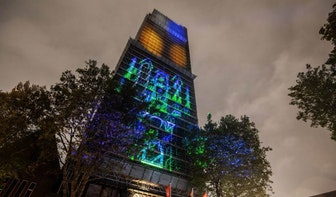 Kleurplaten worden een maand lang geprojecteerd op gevels in Utrechtse binnenstad