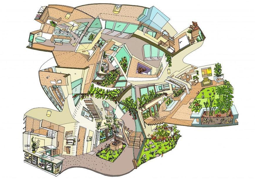 3D-tekeningen van Utrechtse architect vanaf dinsdag te zien in Stadhuis
