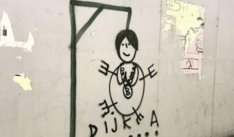 Zeer kwetsende afbeelding aangetroffen in Utrecht; burgemeester Sharon Dijksma doet aangifte